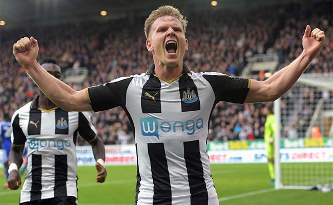 Matt Ritchie Goal Celebration Arms In Air